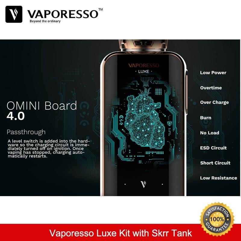 Vaporesso Luxe 220 w Kit 8 ml Skrr Vaporisateur Réservoir Boîte Mod avec Double 18650 Batterie QF Maillé Bobine Vaporisateur e-Cigarettes Kit VS Vengeur - 4