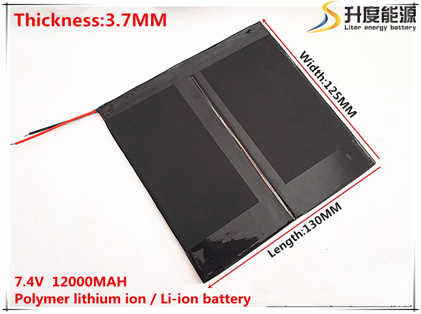 7.4V 12000mAH Li-ion battery for PIPO M6,M6Pro ,M6Pro 3G ,Freelander PD800 Tablet PC, 37*125*130mm image