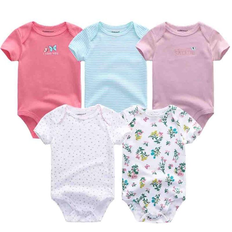 5PCS/LOT Baby Rompers 2019 Short Sleeve 100%Cotton overalls Newborn clothes Roupas de bebe boys girls jumpsuit&clothing