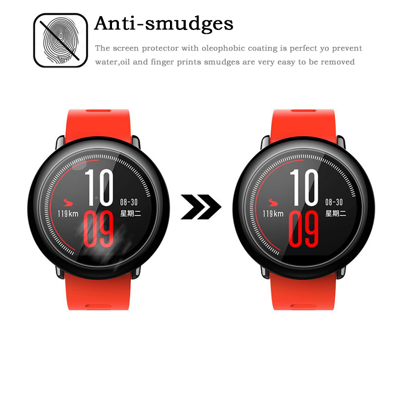 Image 3 - 10Pcs/pack Soft TPU Screen Protector for Xiaomi Huami Amazfit Pace smart watch Sport Smart Watch Protective Film accessories-in Smart Accessories from Consumer Electronics