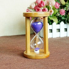 5/10/15 Minutes Bamboo Hourglass Craft Glass Sand Clock Count Down Timer Modern Exquisite Gift