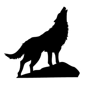 Hot Selling Howling Wolf Silhouette Vinyl Sticker Car Decal Rear Windshield Fashion Animals Art Decals White L314(China)