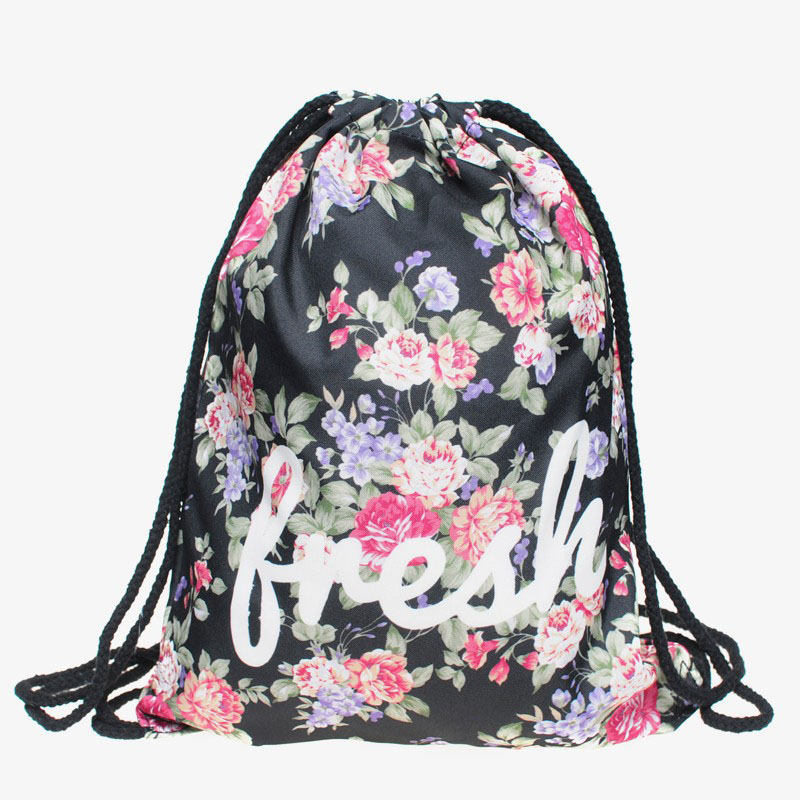 Letters & flowers pattern Backpacks The Western fashion design ...