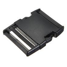 En gros 10pcs * 10 pièces boucles plastiques clips paracord pour sangle élastique bracelet paracorde noir 50mm
