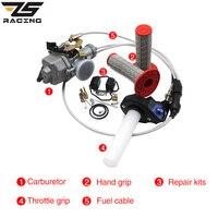 ZS Racing Keihin Auto PZ30 30mm Carburetor+Repair Kits+Handle Grip+Throttle Grip+Throttle Cable For 200cc CG200 TTR250