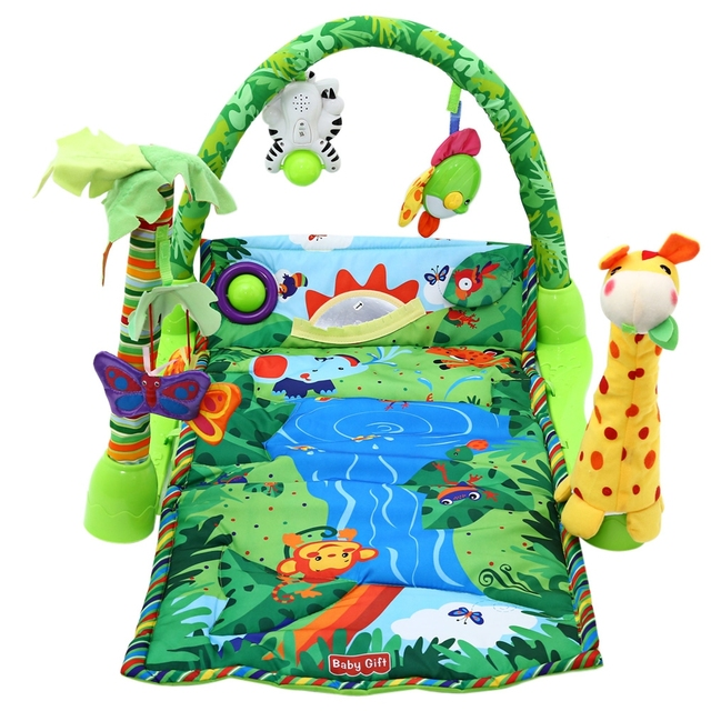Kid's Play mats With Rain-Forest Music