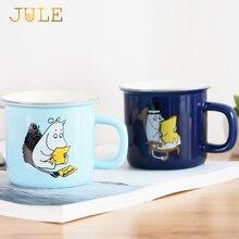 250 ML Kreative keramik milch becher mit tiere cute cartoon moomin kaffeetasse hitzebeständige Celadon tassen mit Handgriff schönes geschenk