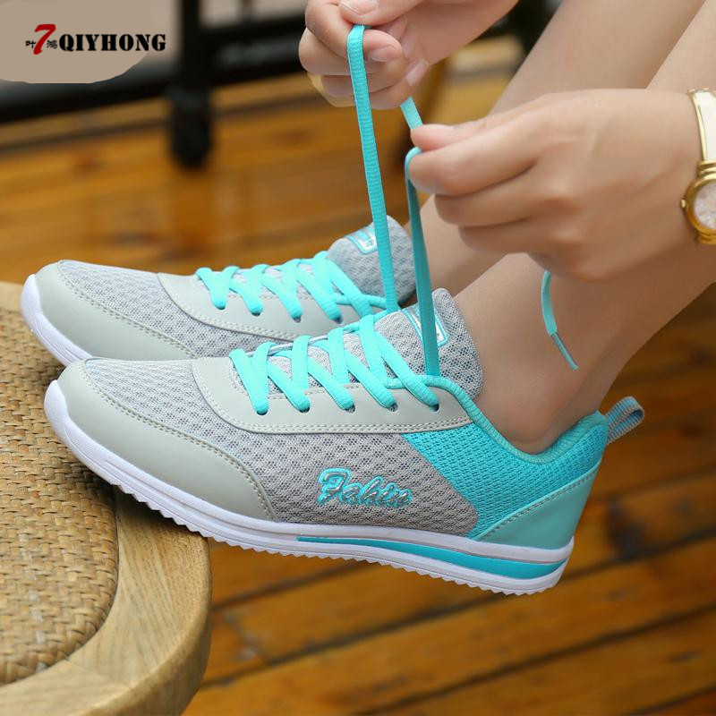 Women Shoes 2018 Summer Breathable Mesh Shoes Fashion Flats Hot Sales Women Footwear High Quality Lace Up Mesh Casual Shoes fashion women casual shoes breathable air mesh flats shoe comfortable casual basic shoes for women 2017 new arrival 1yd103