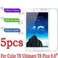 """8.0 """"Para El Cubo T8 Último/T8 Más Tablet PC Protector de Pantalla Transparente Mate Suave Nano Anti-Explosión Película protectora (no De Vidrio)"""