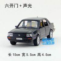 Gift 15cm 1 32 Creative Volkswagen Santana Poussan Jetta Car Alloy Model Acousto Optic Pull Back
