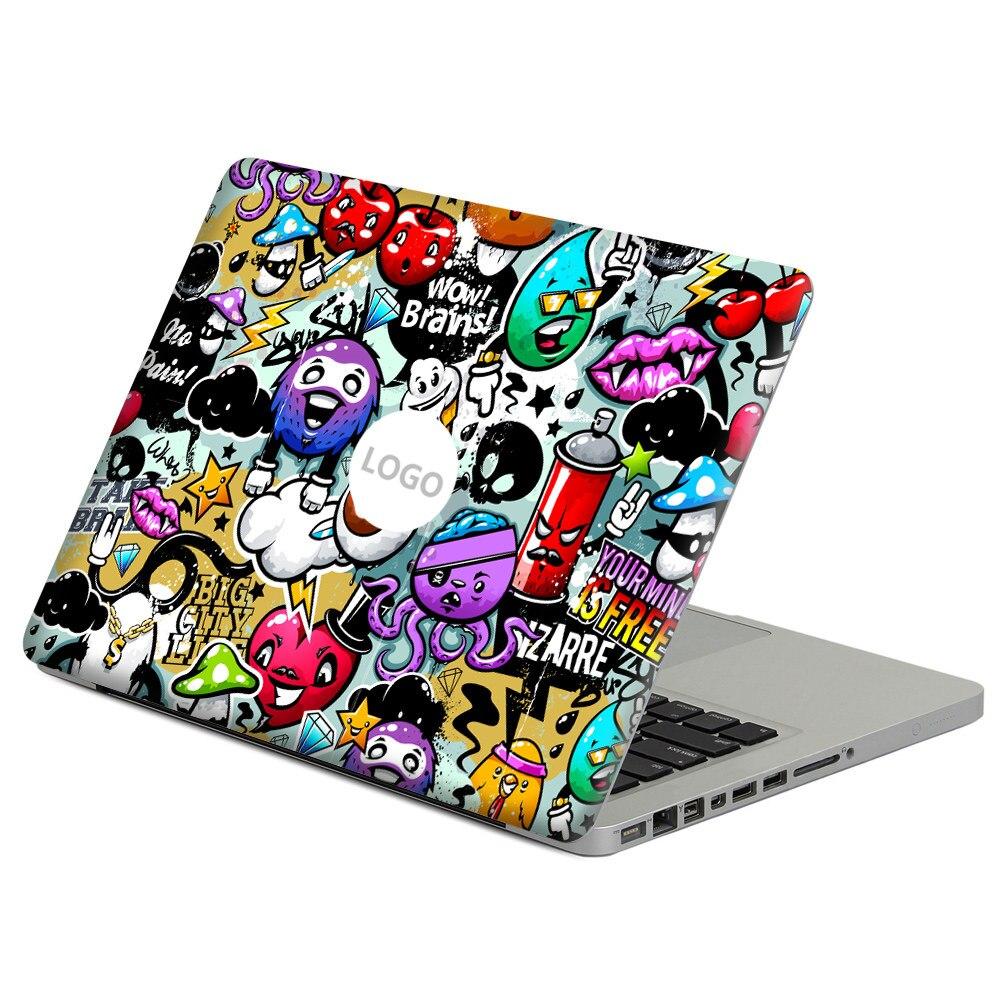 "Laptop Retro Rainbow Macbook Logo Sticker Decal Aplle Laptop Decoration for Air//Pro//Retina 15/"" for Decoration"