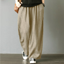 cd48b270e5 Harem Pant Hemp Bloomer Plus Size 2018 Autunm M-5XL 6XL Loose Women Trouser  cotton