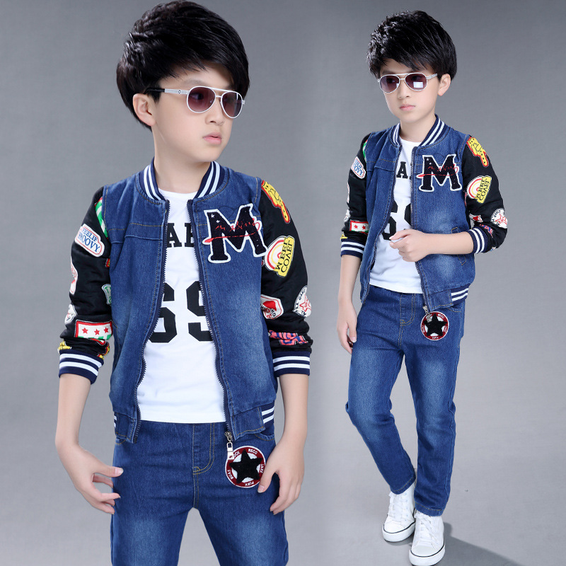 Kids Clothes Boy's Fashion Sports Set Kid's Clothing Sets Boy Teenagers Sport Suit Kids Suit Sets Boys Jackets & Pants baby clothes new hot long sleeve newborn infantil boys kids 100% cotton for boys girls rompers winter spring autumn boy clothing