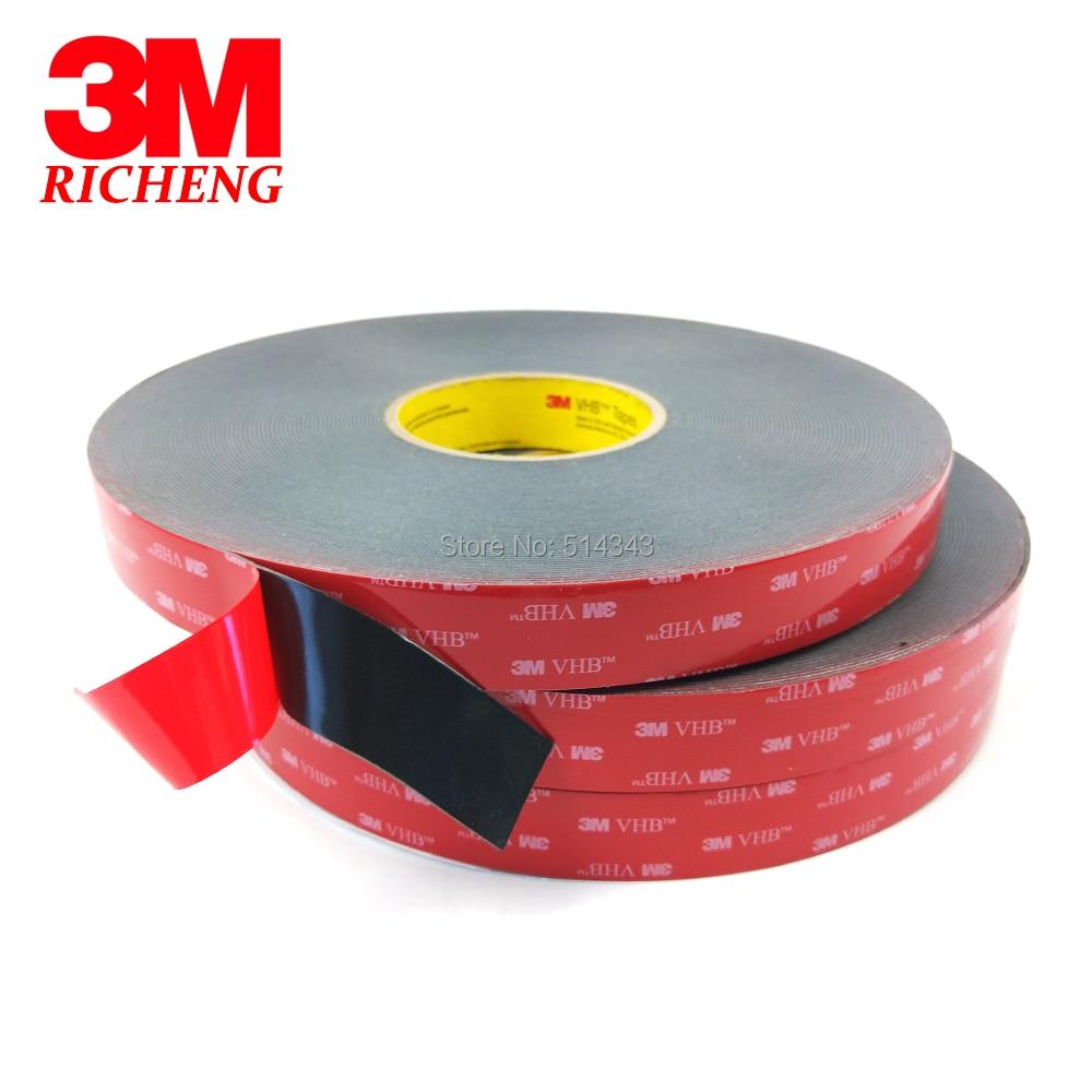3M VHB 5925 Double Sided Adhesive Waterproof Acrylic Foam Tape 25MM*33M 1ROLL/LOt стоимость