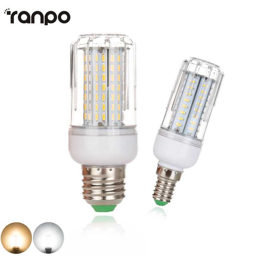Dimmable LED Bulb E14 E27 SMD 4014 LED Lamp 45 64 80 126Leds AC 220V Corn Lights Chandelier 12W 18W 21W 25W Super Power Lighting