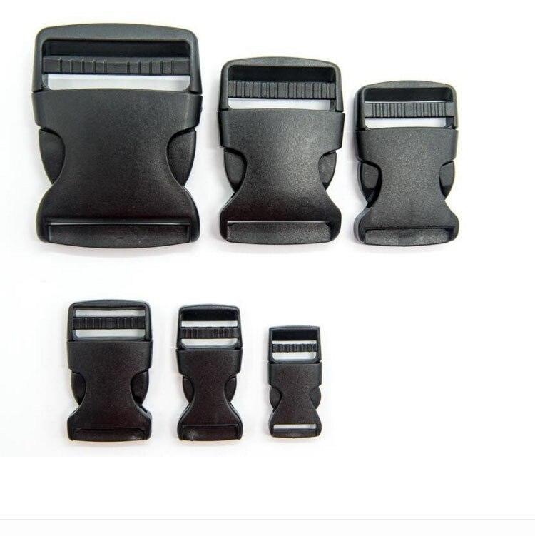 1pcs Plastic Side Release Buckles Slimwaist Backpack Straps Webbing Diy Combined Fastener Buckles 10mm 20mm 25mm 32mm 38mm 50mm