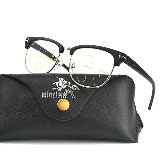 MINCL/Smart Zoom Asymptotically Multifocal Progressive Bifocal Reading Glasses High Quality Presbyopia Hyperopia with box  FML