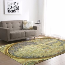 Soft Shaggy World Map Carpet For Living Room European Home Floor Rugs fluffy Mats Kids Faux Fur Area Rug