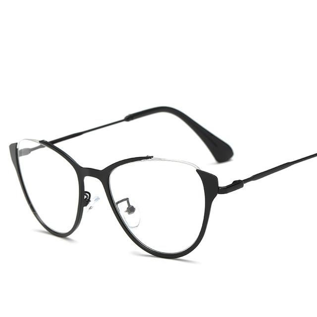 2018 Cat Eye Glasses Frame Women Alloy Frame Glasses Frames Womens ...