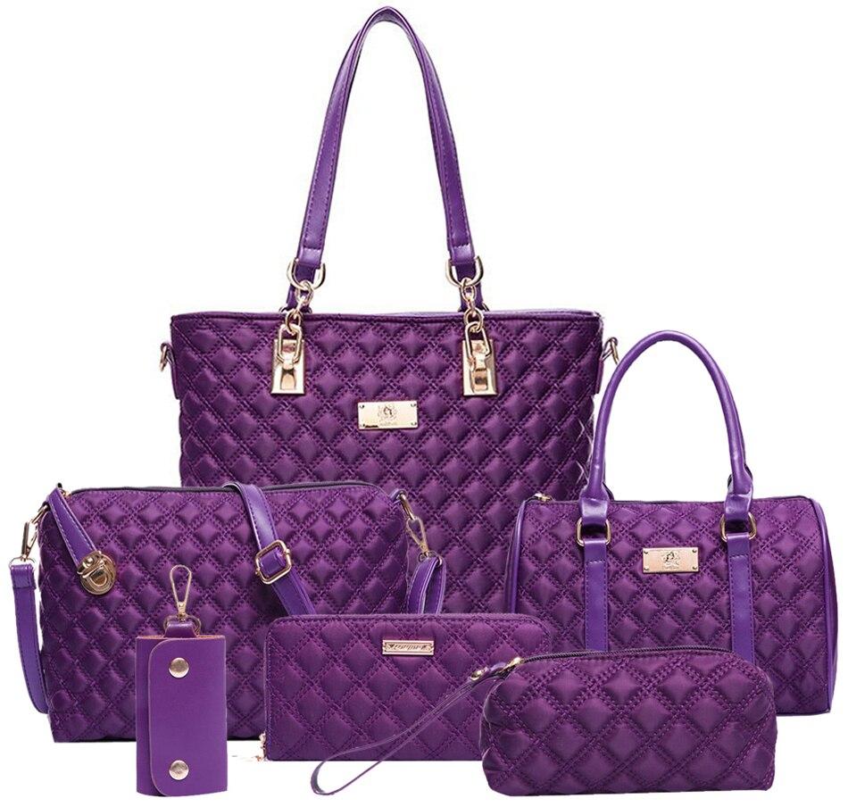 Coofit New Brand Luxury Lady Handbag 6 Pcs Set Composite Bags Set
