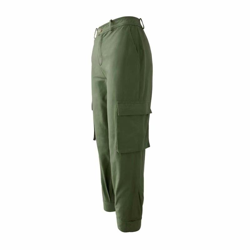 2018 Women High Waist Punk Cargo   Pants   Streetwear Lady Cotton Free Harem   Pants   Joggar Camo Camouflage   Capris   Trousers Army Green