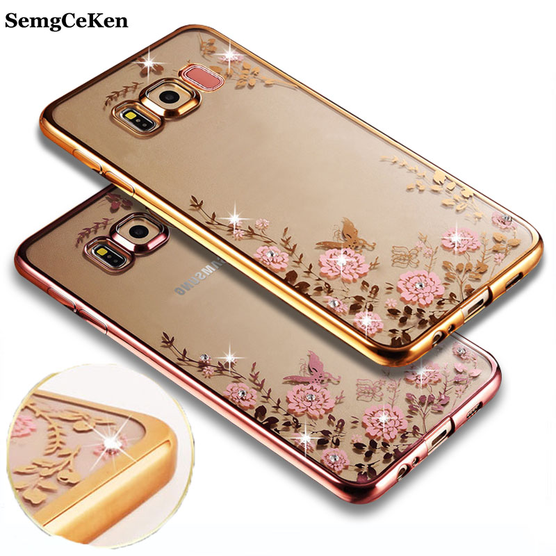 SemgCeKen luxury original gold tpu silicone case for samsung galaxy S9 S 9 silicon clear soft s9plus s9 plus coque cover etui