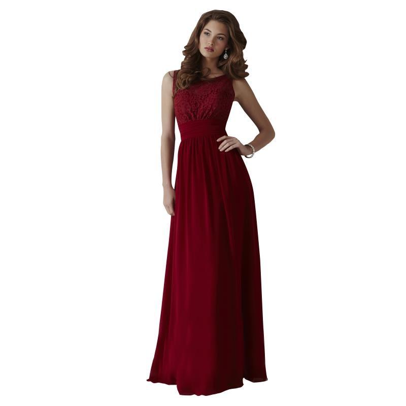 dark red elegant long chiffon bridesmaid dresses 2016 new
