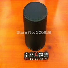 High-grade straight JW leather dice cup cortex Hennessy screen entertainment dice colors colors cup dice cup shake cup