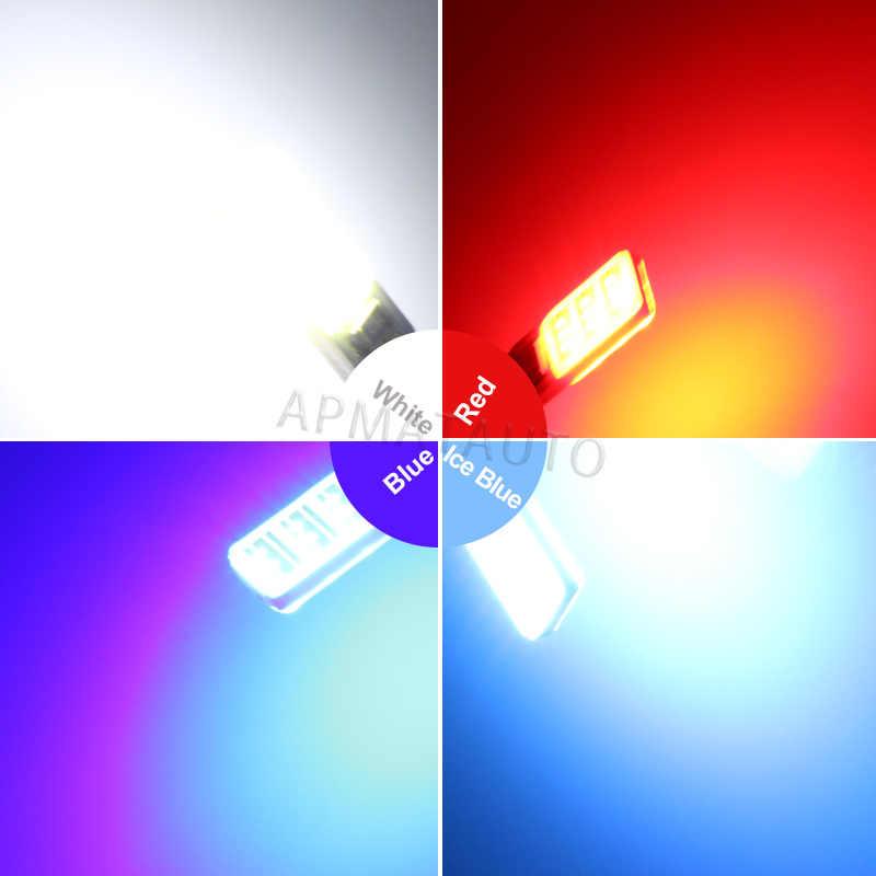 2 x T10 W5W lisans numarası plaka hafif LED ampuller lamba Hyundai Tucson için IX35 I30 Elantra Accent Sonata Santa veracruz Rohens