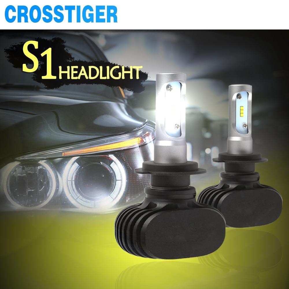 S1 auto Car Headlight lamp H4 H7 h27 Led Bulb 12v 9005 9006 hb4 880 H3 H11 H1 H8 Automobiles Bulbs Lights 6000K 50W