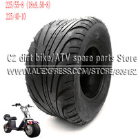 225/55 8 Tire 225/40 10 Tyre 18x9.50 8 Front or Rear 8inch 10inch 6PR Electric Scooter Vacuum Tires For Harley Chinese Bike