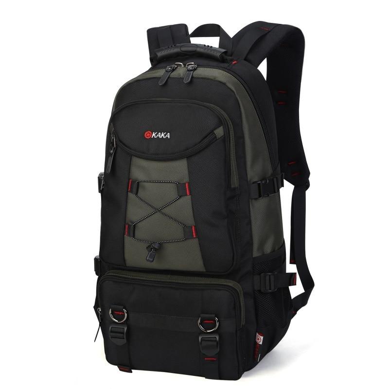 Grand sac à dos de voyage sac à bandoulière hommes alpinisme Oxford verrouillable étanche week-end nuit bagages sac polochon - 5