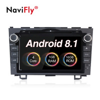 NaviFly 8 2din Android 8,1 автомобильный dvd мультимедийный плеер радио для Honda CRV 2007 2008 2009 2010 2012 gps навигация wifi RDS SD BT
