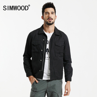 Simwood 2018 primavera chaqueta hombres moda casual slim fit Abrigos alta calidad windbreaker wj1667
