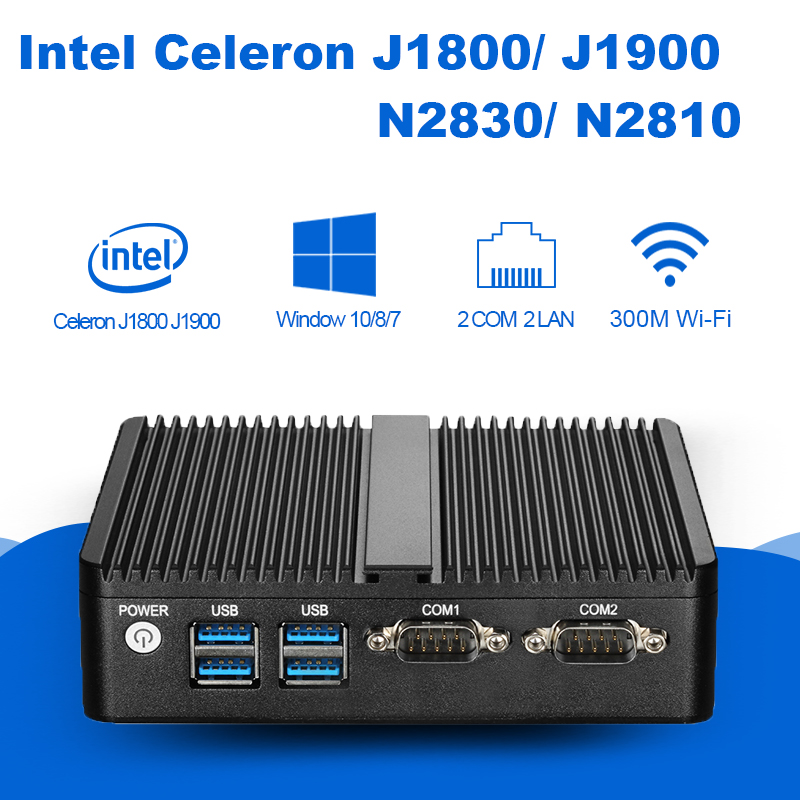 Mini PC Celeron J1800 N2830 8G RAM 128G SSD dual RS232 dual RJ45 max 2.58GHz mini desktop pc Micro Computer HTPC Windows 10/8 newest mini pc computer celeron j1800 2 41ghz dual lan n2830 industrial thin client no fan design micro windows7 os 2 rs232