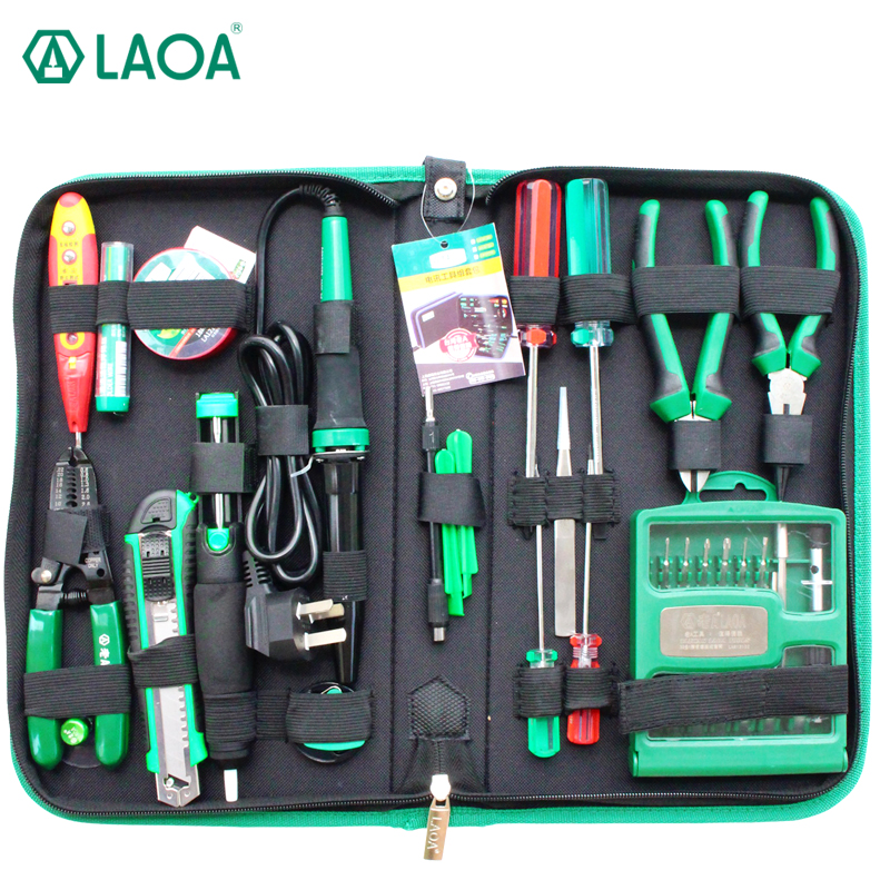 LAOA 52pcs Electric soldering iron set telecommunication tools With Precise screwdrivers Precision screw driver set and Pliers growth of telecommunication services