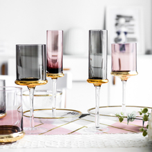 Europe glass wine cup Luxury Electroplated gold goblet champagne glasses cups Whiskey party wedding Drinkware