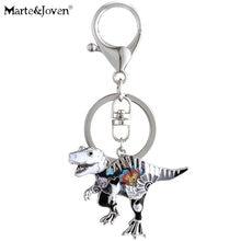 Женские Брелки с динозаврами marte & joven эмалированные разноцветные