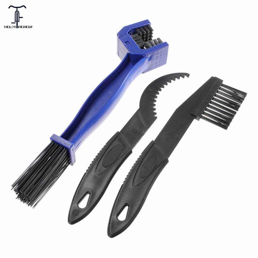 Useful Bicycle Tools Chain Cleaning Brush Scrubber Cleaner Gear Nylon Acrylonitrile Butadiene Styrene Bike Cycling Chain Kits