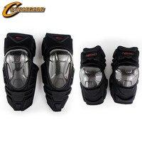 Professional Carbon Fier Motorcycle Knee Protector Elbowpad Guard Gear Knee Pad Cyclegear K09H09