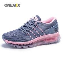 Onemix אוויר כרית ורוד נעלי ריצה לנשים מותג חיצוני ספורט סניקרס נקבה אתלטי נעל לנשימה zapatos דה hombre