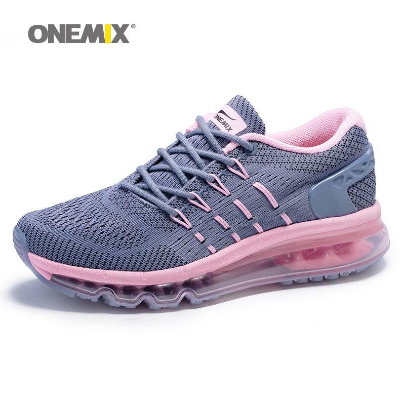 Onemix coussin d'air rose chaussures de course pour femmes marque de plein air sport baskets femme chaussure athlétique respirant zapatos de hombre