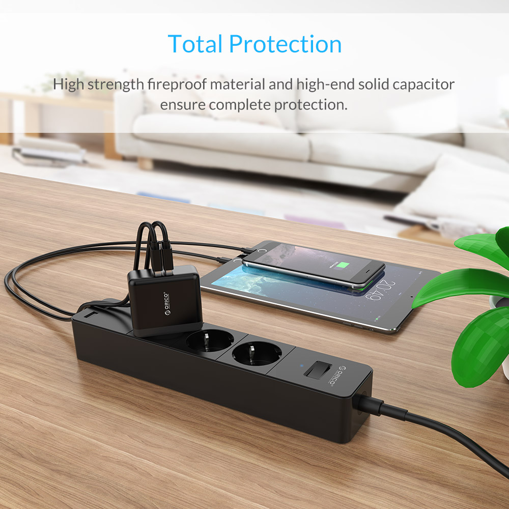 ORICO USB Portable Wall Charger Travel Charger Adapter With 2 Port 15W Max EU Plug for iPhone for iPhone Accessories for Xiaomi in Mobile Phone Chargers from Cellphones Telecommunications
