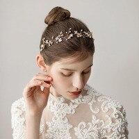 Fashion Tiara Gold Leaf Bridal Headband Wedding Hair Accessories Girl's Hairband Crown Headpiece Bridesmaid Hair Jewelry