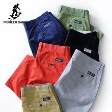 Pioneer Camp nowe szorty na lato mężczyźni odzież marki stałe bermudy męski top jakości rozciągliwe dopasowanie dopasowanie spodenki plażowe 655117