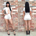Sexy Breast Nude Nightclub Jumpsuit Piece Shorts Fashion Women Jumpsuit Rompers Tight One Piece Jumpsuit