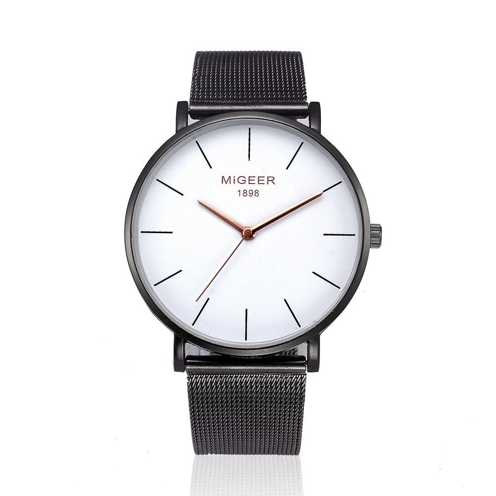 все цены на MIGEER Elegant Ladies Mesh Band Wrist Watches Women Simple Design Stainless Steel Analog Quartz Watch Female Clock Relogio #LH онлайн