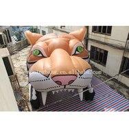 Высококачественный надувной тигр голова надувной Тигр туннельная палатка