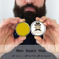 30g natural homem barba cera para o estilo bálsamo hidratante alisamento barba cuidados com o crescimento ajuda barba crescente condicionador de óleo cuidados