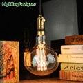 Tamanho grande R160 lâmpada Edison lâmpada 120 V 220 V gigante do vintage nostálgico lâmpada brilho 60 W gaiola de esquilo projeto de filamentos